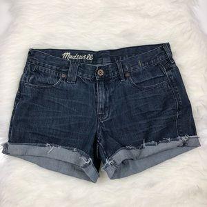 Madewell Cuffed Raw Hem Jean Shorts